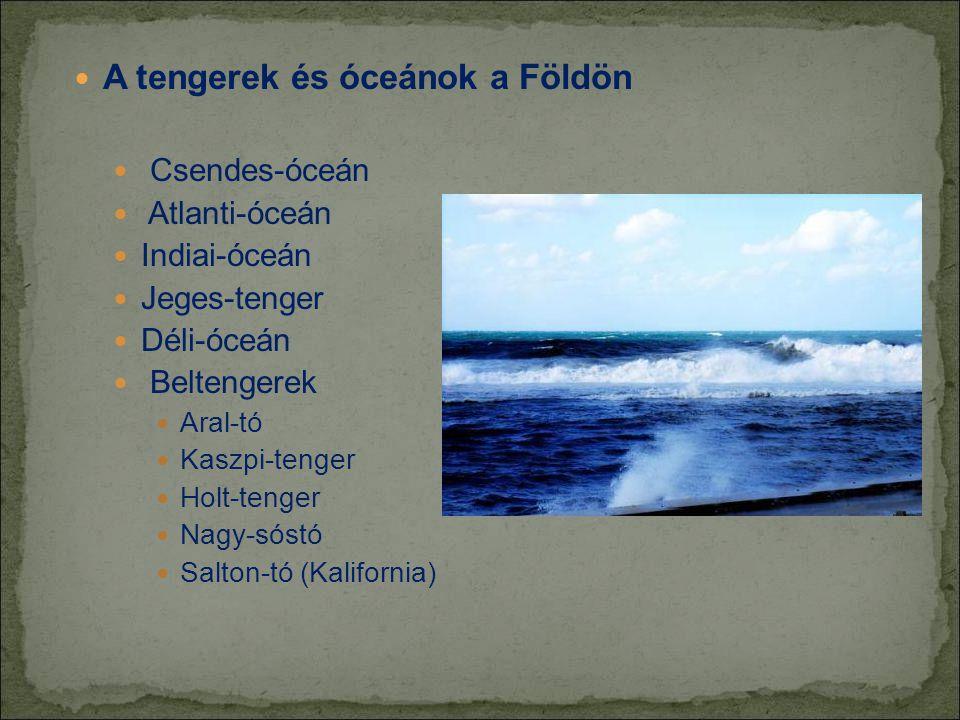 A tengerek és óceánok a Földön