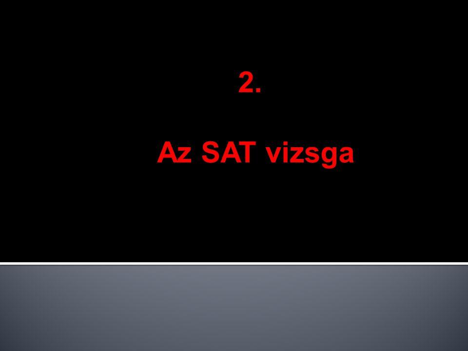 2. Az SAT vizsga
