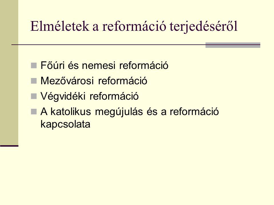Elméletek a reformáció terjedéséről