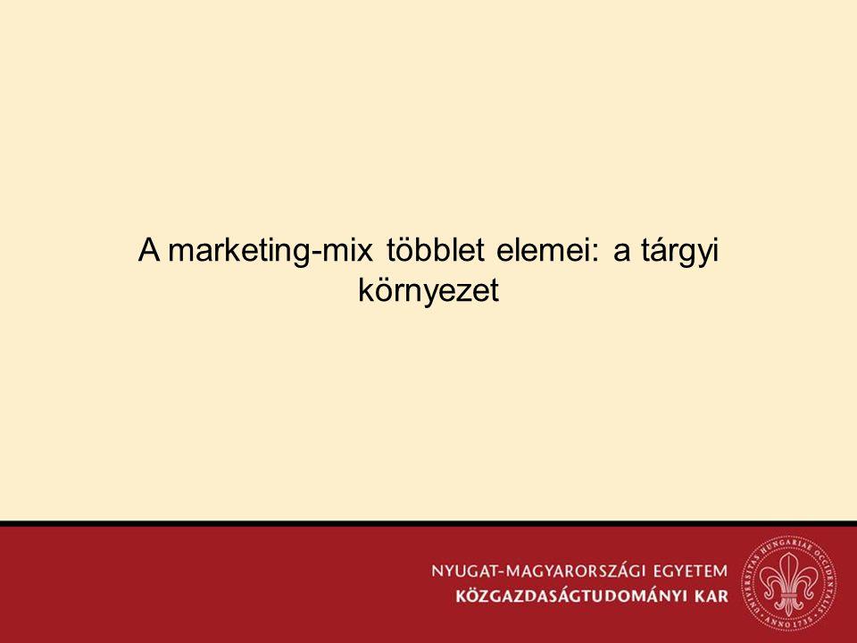 A marketing-mix többlet elemei: a tárgyi környezet