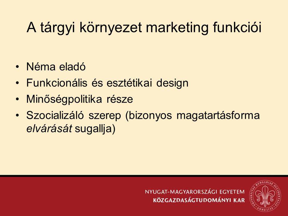 A tárgyi környezet marketing funkciói
