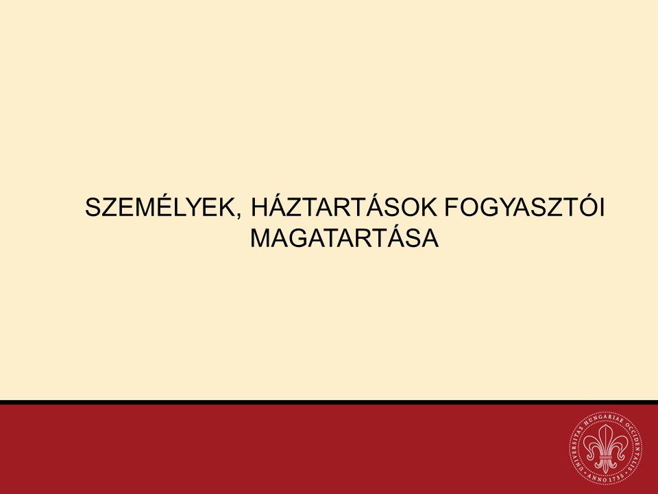 SZEMÉLYEK, HÁZTARTÁSOK FOGYASZTÓI MAGATARTÁSA