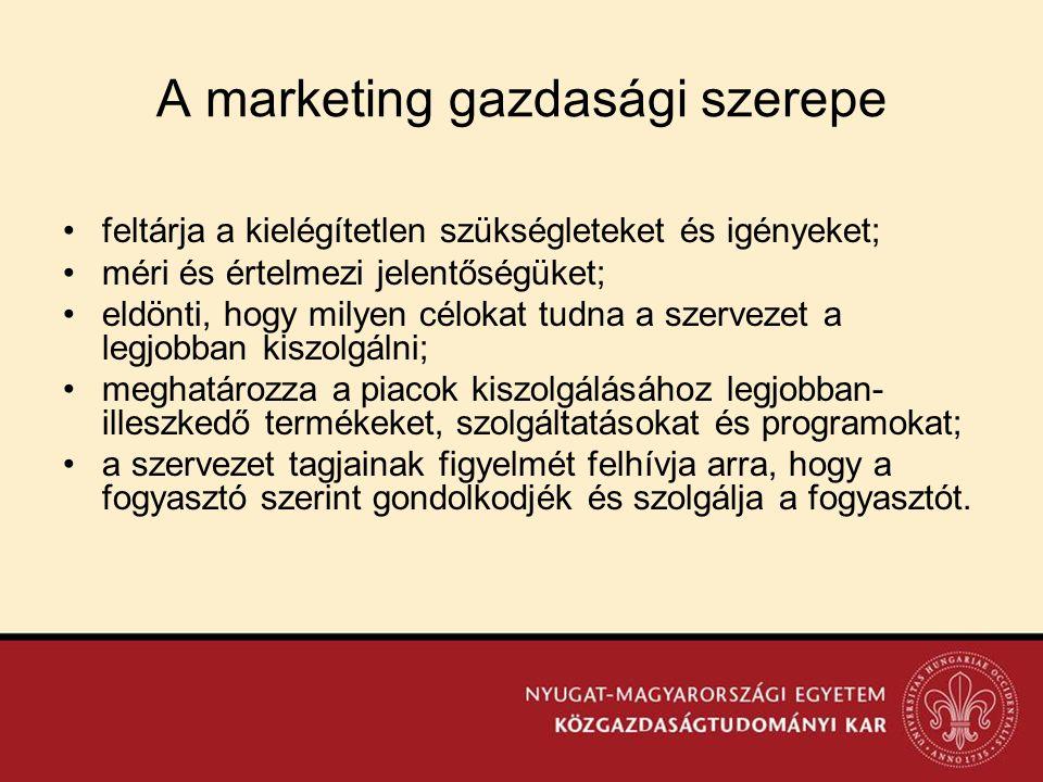 A marketing gazdasági szerepe