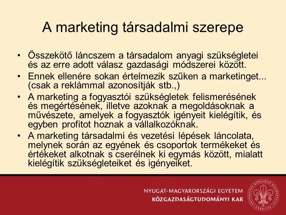 A marketing társadalmi szerepe
