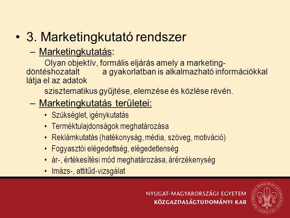 3. Marketingkutató rendszer