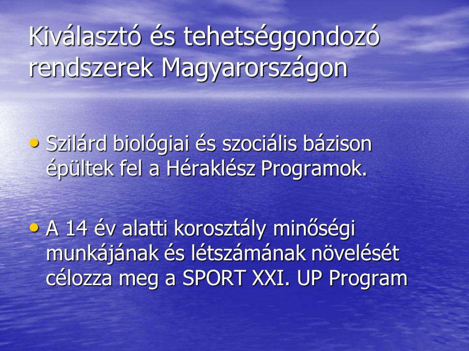 Kiválasztó és tehetséggondozó rendszerek Magyarországon