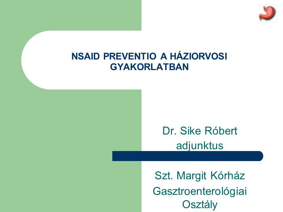 NSAID PREVENTIO A HÁZIORVOSI GYAKORLATBAN
