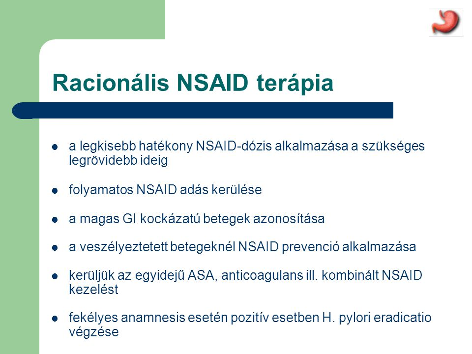 Racionális NSAID terápia