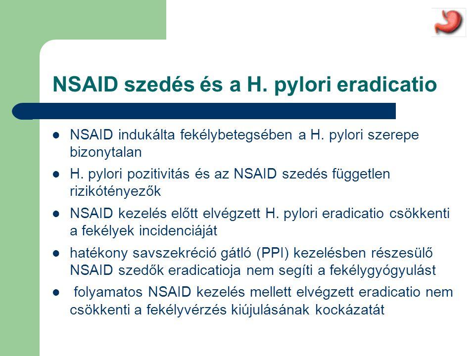 NSAID szedés és a H. pylori eradicatio
