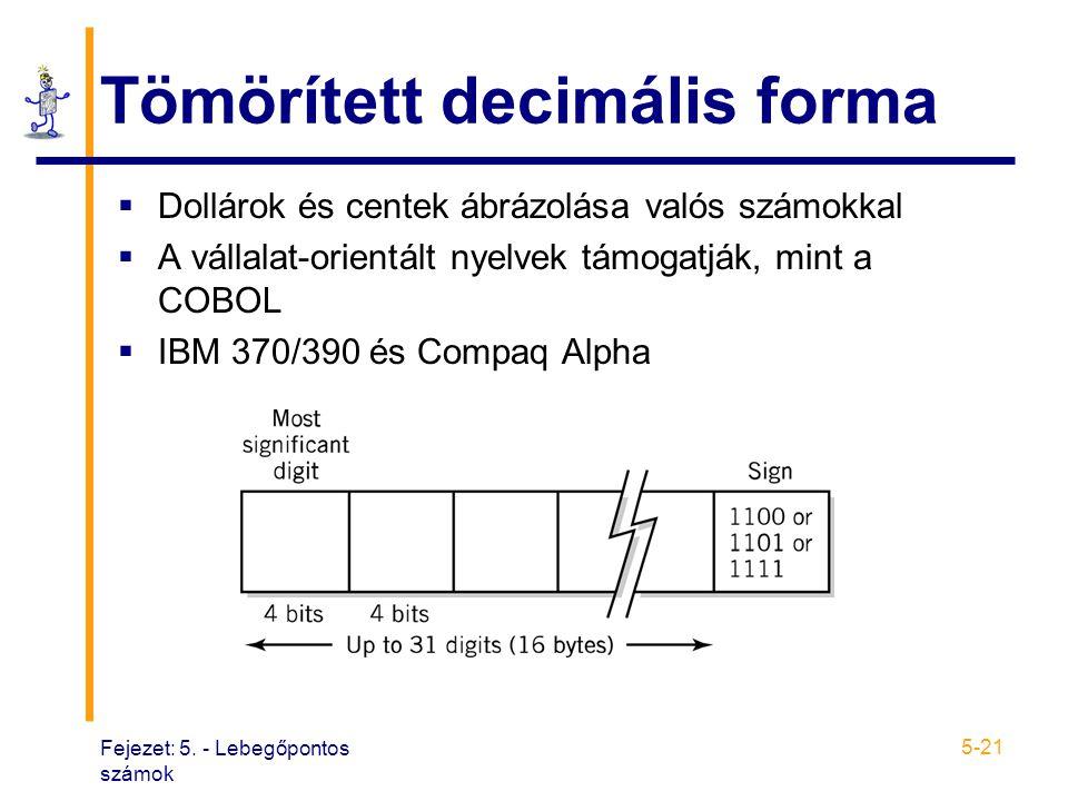 Tömörített decimális forma