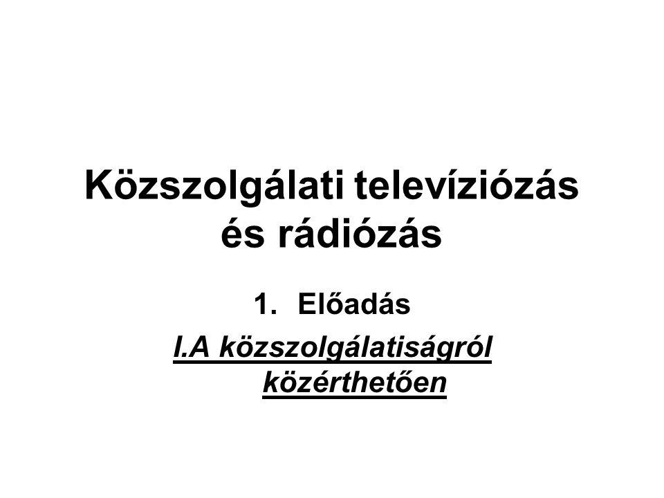 Közszolgálati televíziózás és rádiózás