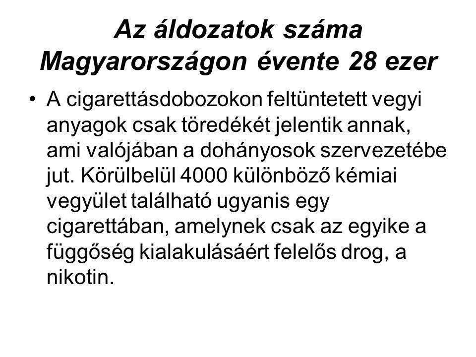 Az áldozatok száma Magyarországon évente 28 ezer