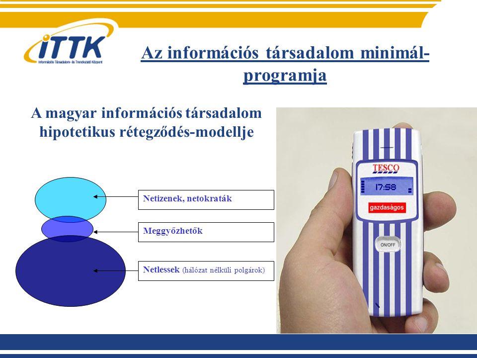 Az információs társadalom minimál-programja