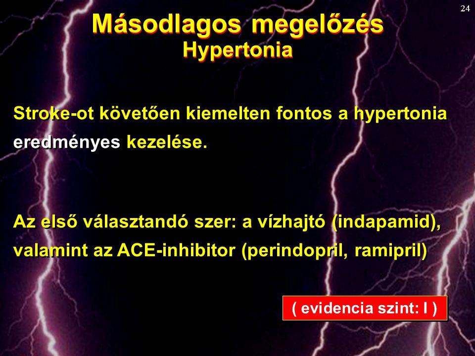 Másodlagos megelőzés Hypertonia