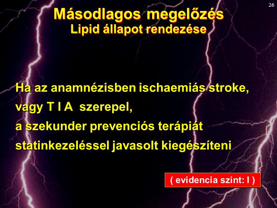 Lipid állapot rendezése