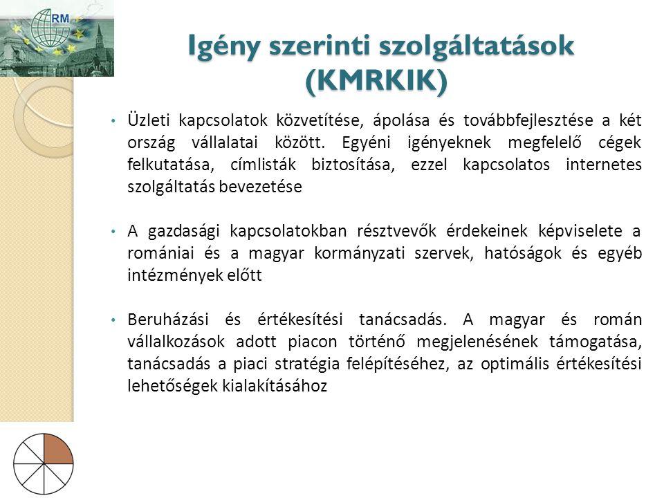 Igény szerinti szolgáltatások (KMRKIK)
