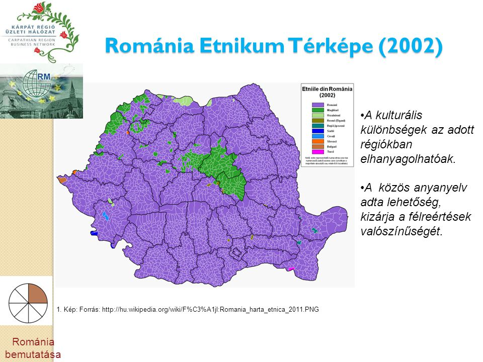 Románia Etnikum Térképe (2002)