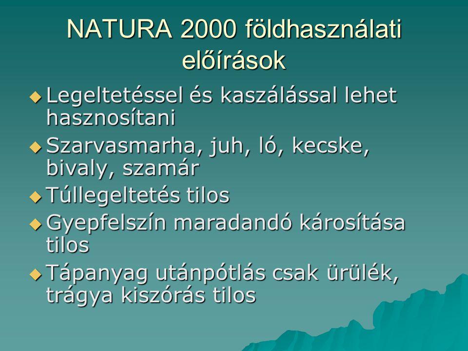 NATURA 2000 földhasználati előírások