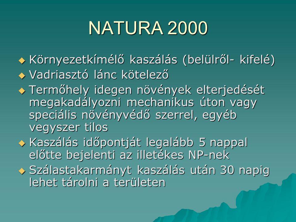 NATURA 2000 Környezetkímélő kaszálás (belülről- kifelé)