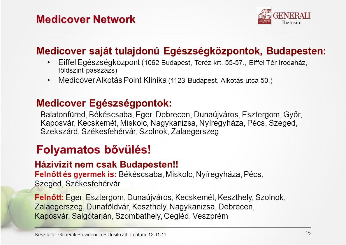 Folyamatos bővülés! Medicover Network