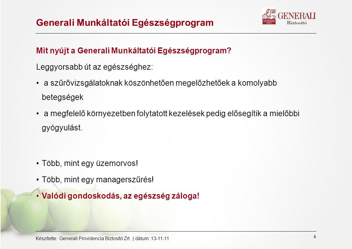 Generali Munkáltatói Egészségprogram