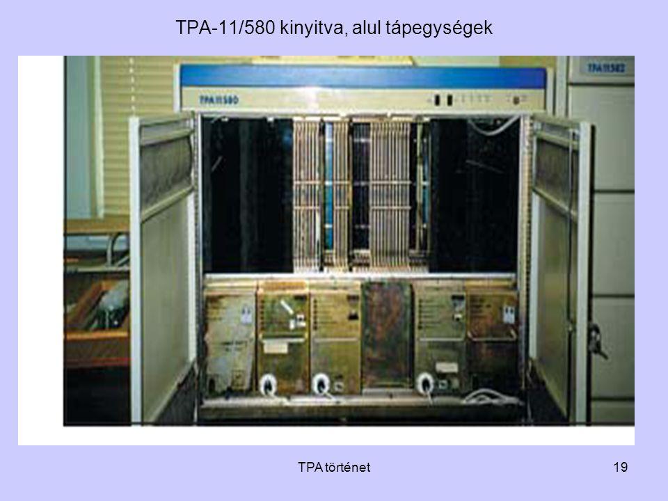 TPA-11/580 kinyitva, alul tápegységek