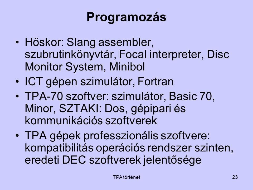 Programozás Hőskor: Slang assembler, szubrutinkönyvtár, Focal interpreter, Disc Monitor System, Minibol.