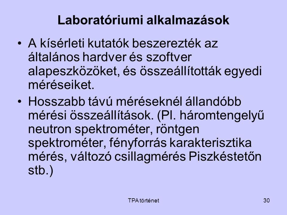 Laboratóriumi alkalmazások