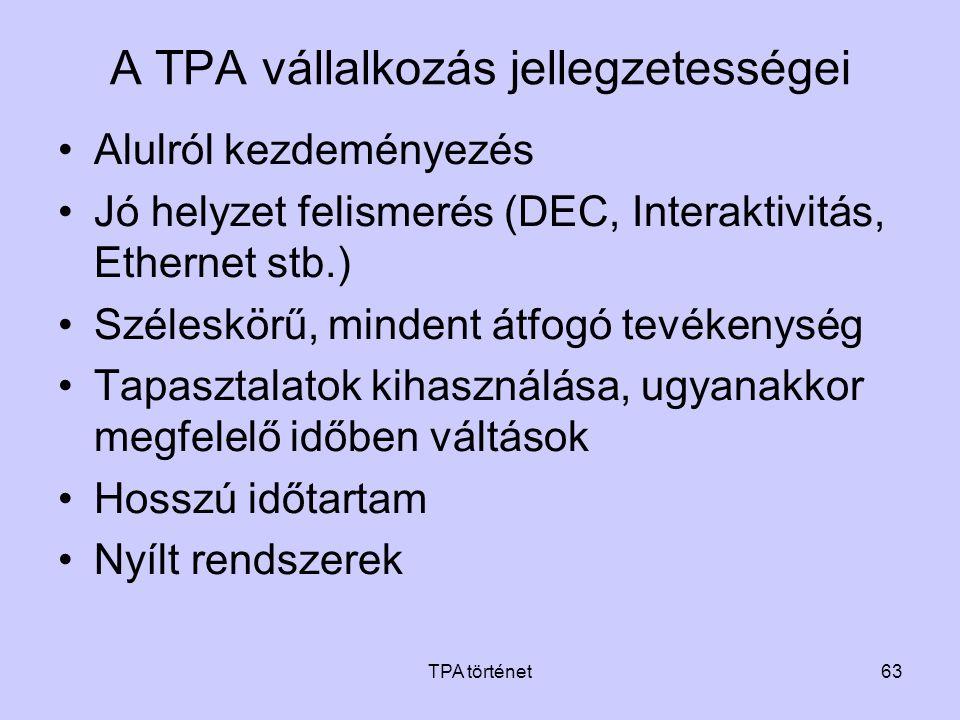 A TPA vállalkozás jellegzetességei