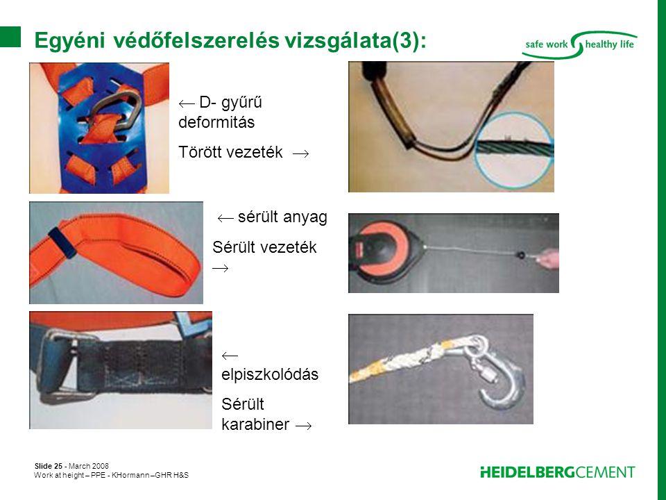 Egyéni védőfelszerelés vizsgálata(3):