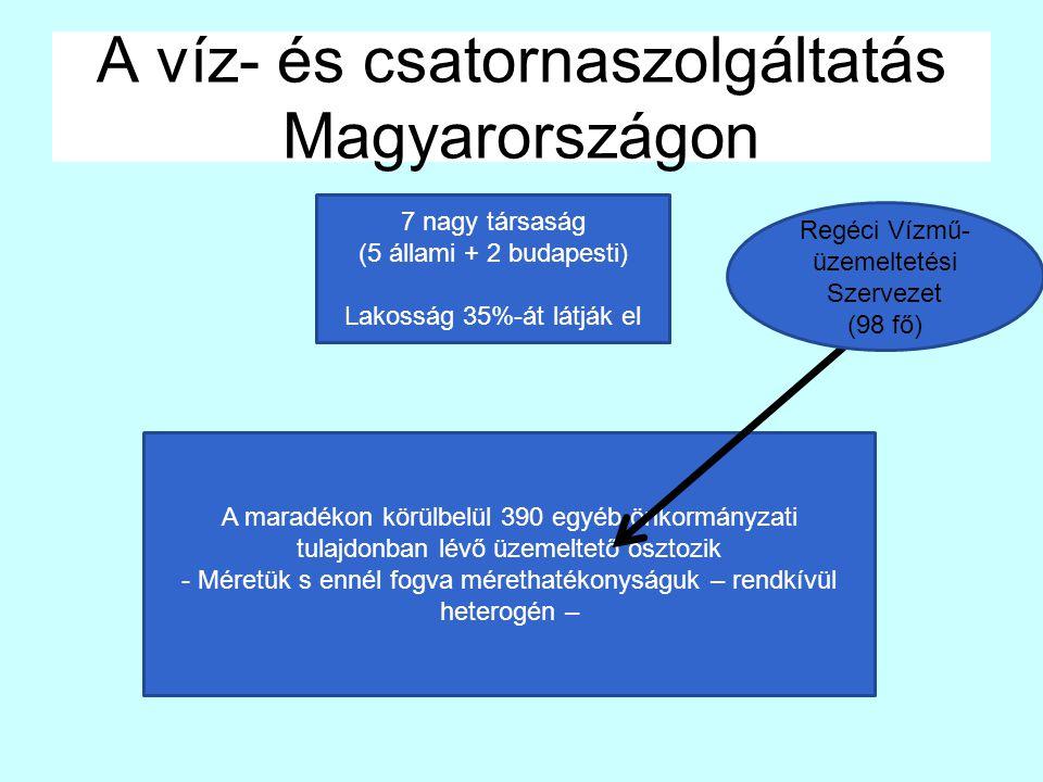 A víz- és csatornaszolgáltatás Magyarországon