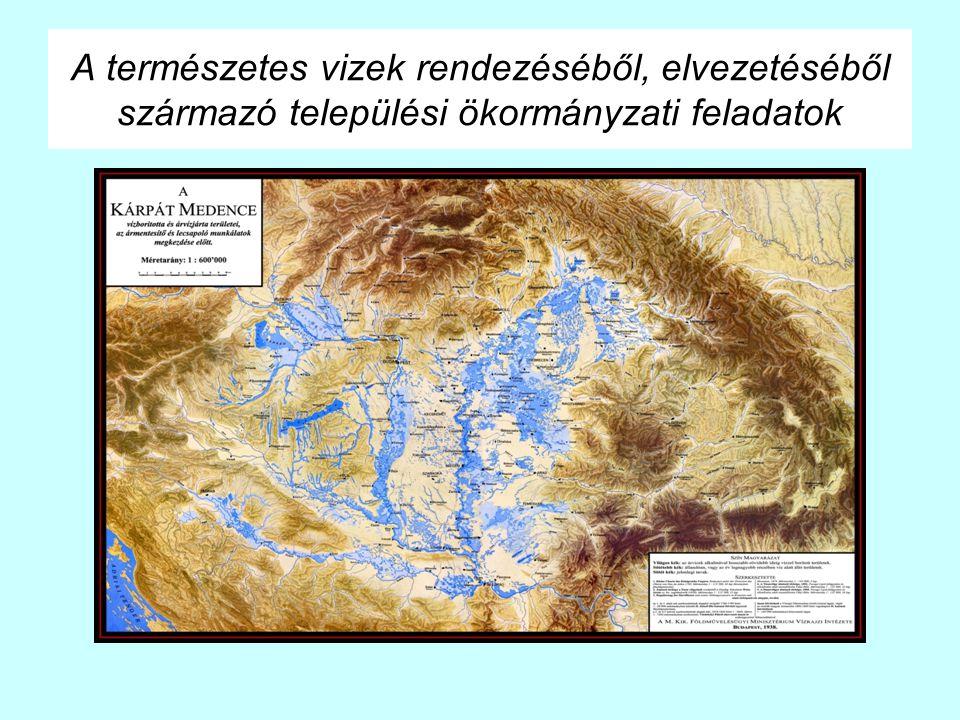 A természetes vizek rendezéséből, elvezetéséből származó települési ökormányzati feladatok