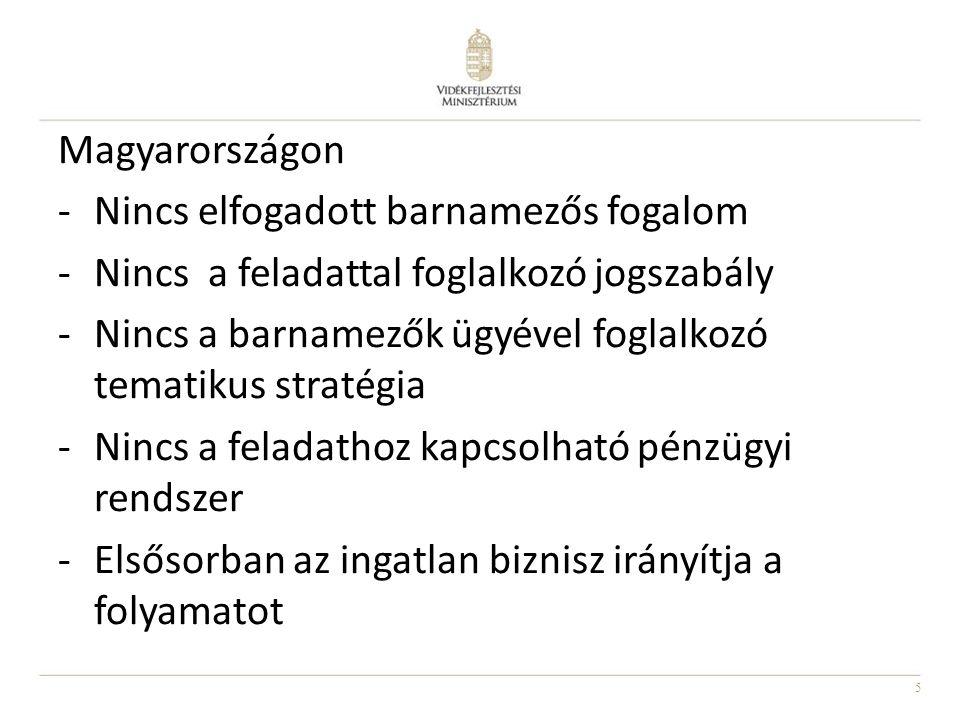 Magyarországon Nincs elfogadott barnamezős fogalom. Nincs a feladattal foglalkozó jogszabály.