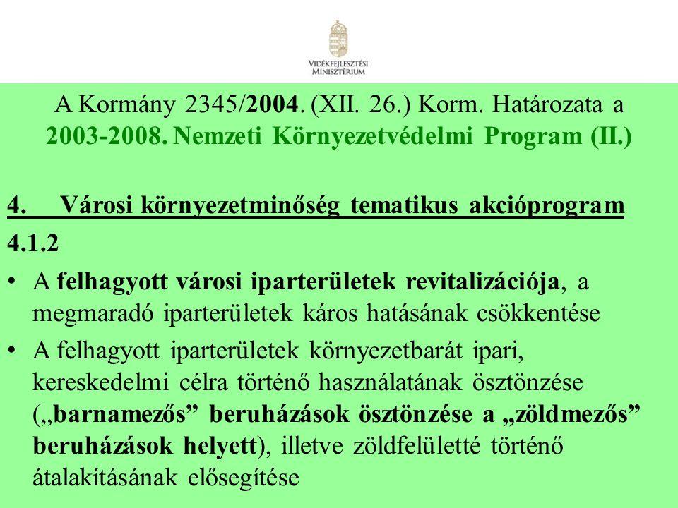 2003-2008. Nemzeti Környezetvédelmi Program (II.)