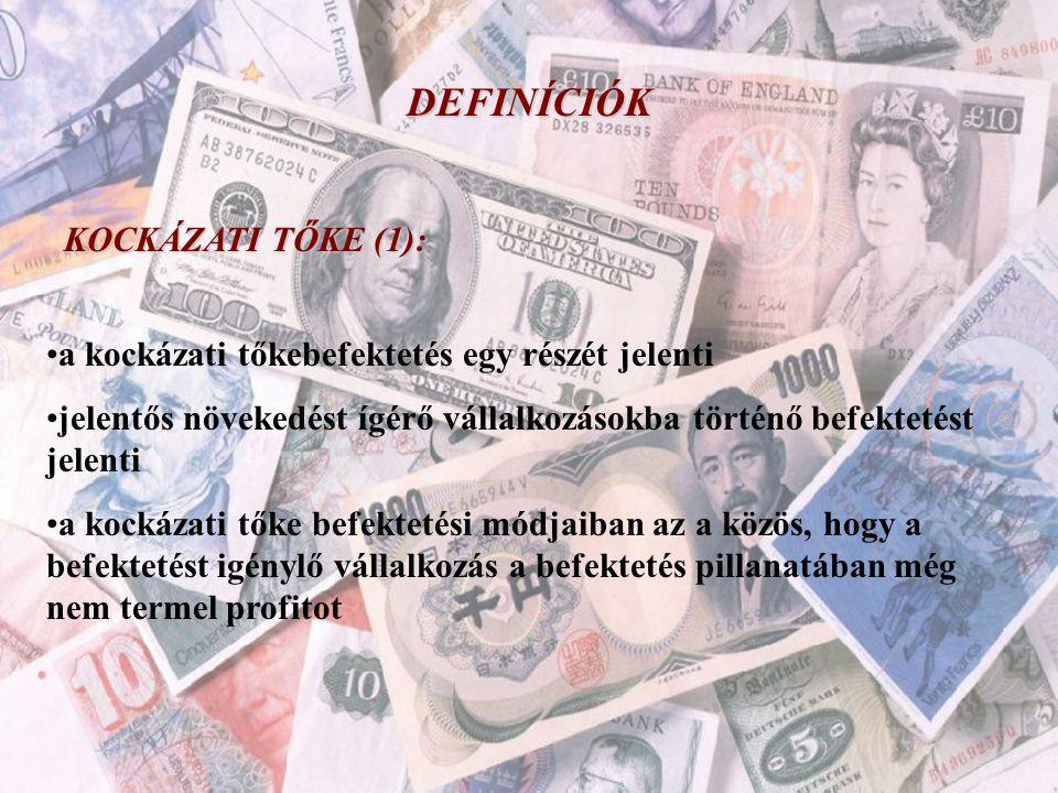 DEFINÍCIÓK KOCKÁZATI TŐKE (1):