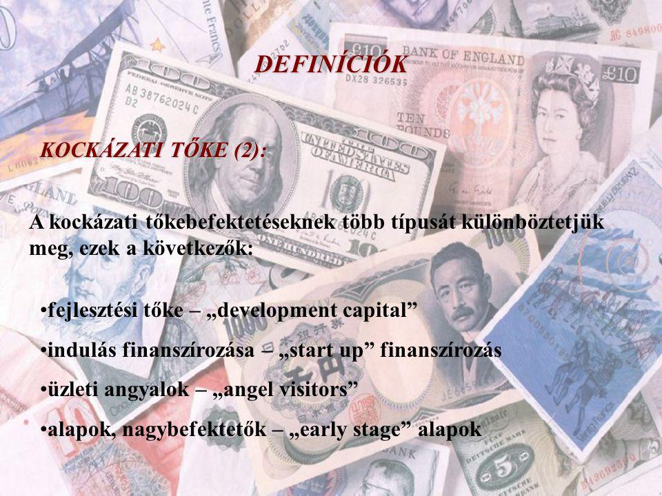 DEFINÍCIÓK KOCKÁZATI TŐKE (2):