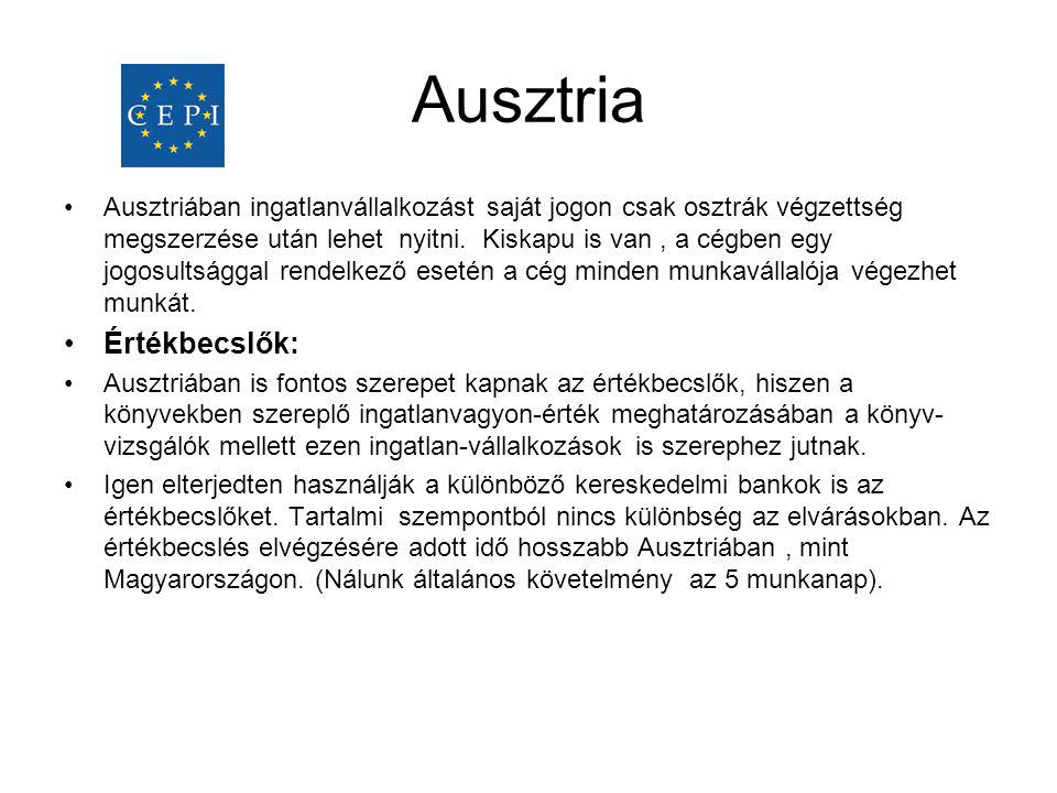 Ausztria Értékbecslők:
