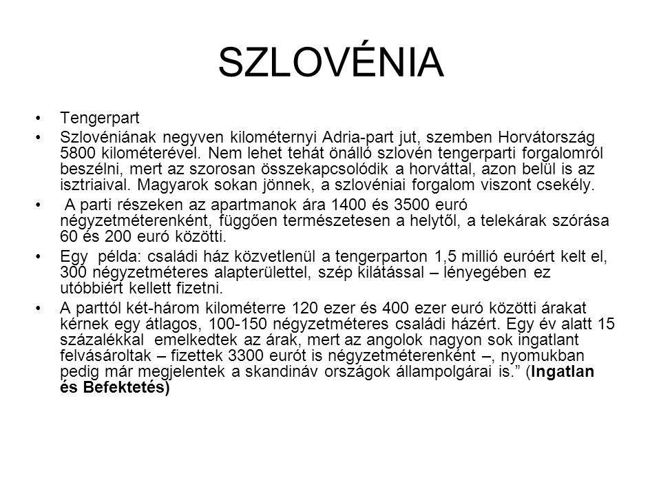 SZLOVÉNIA Tengerpart.