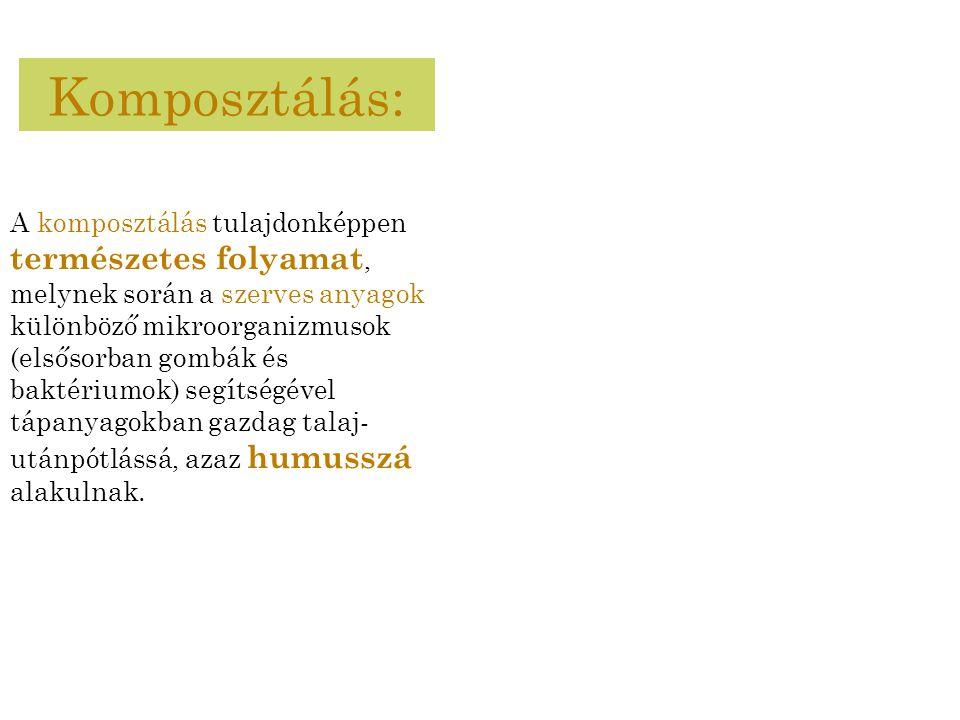 Komposztálás: