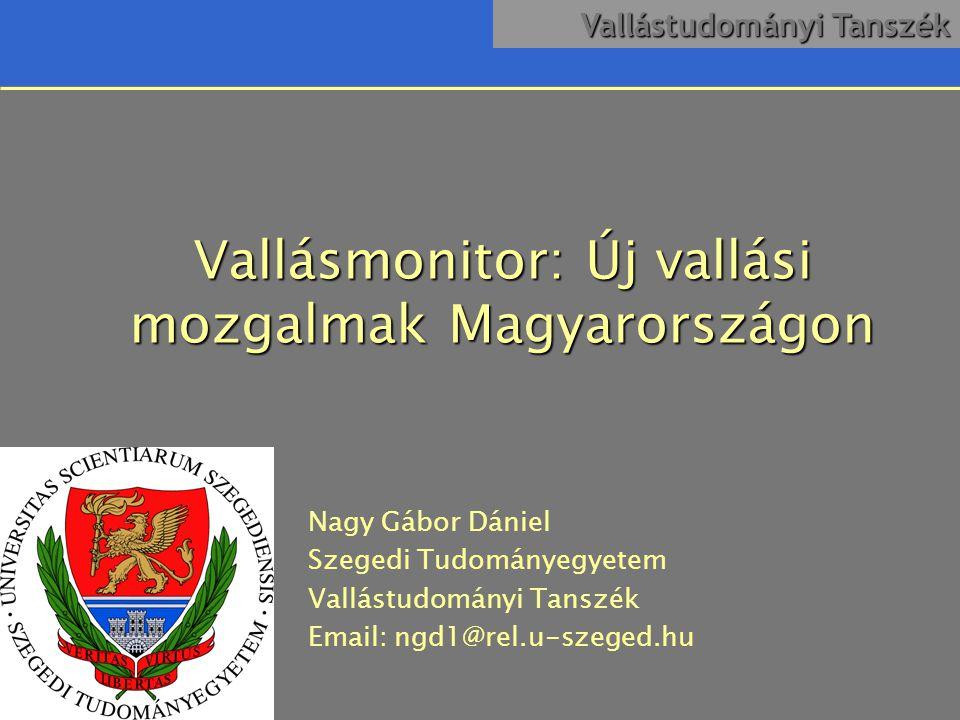 Vallásmonitor: Új vallási mozgalmak Magyarországon