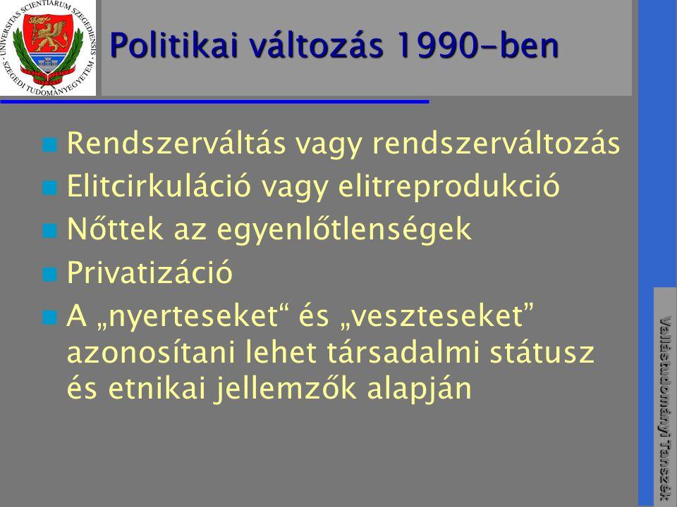 Politikai változás 1990-ben