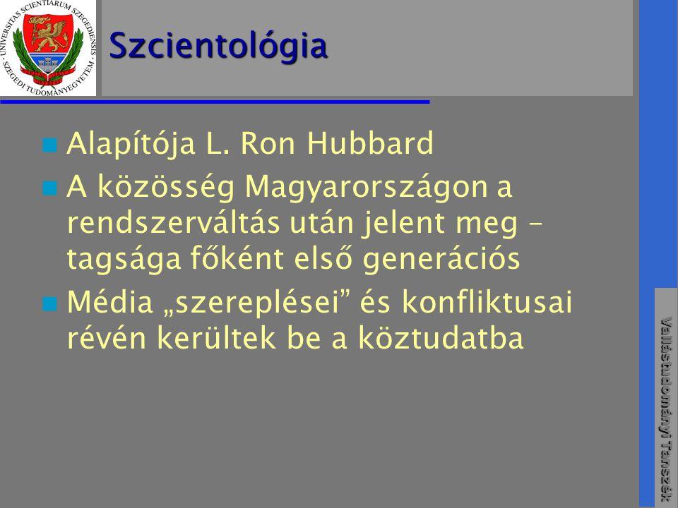 Szcientológia Alapítója L. Ron Hubbard