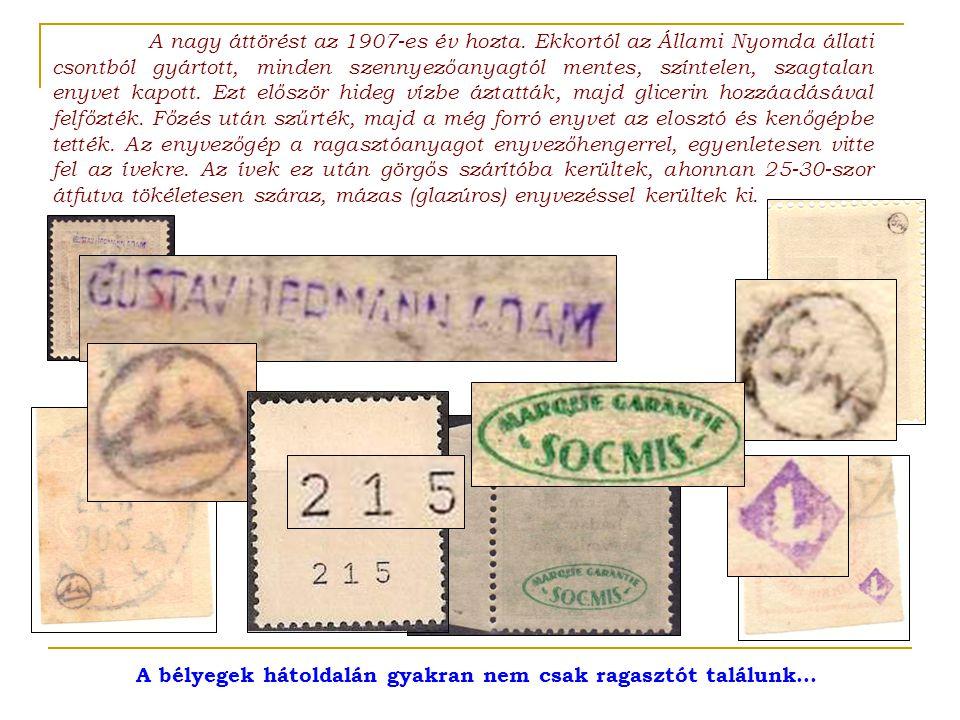 A bélyegek hátoldalán gyakran nem csak ragasztót találunk…