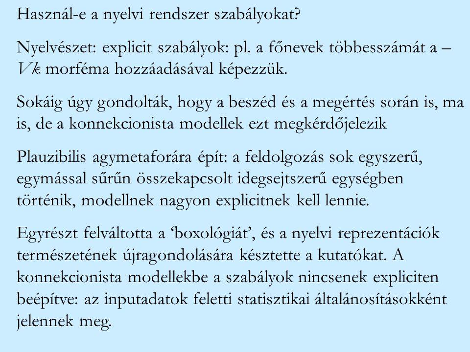 Használ-e a nyelvi rendszer szabályokat