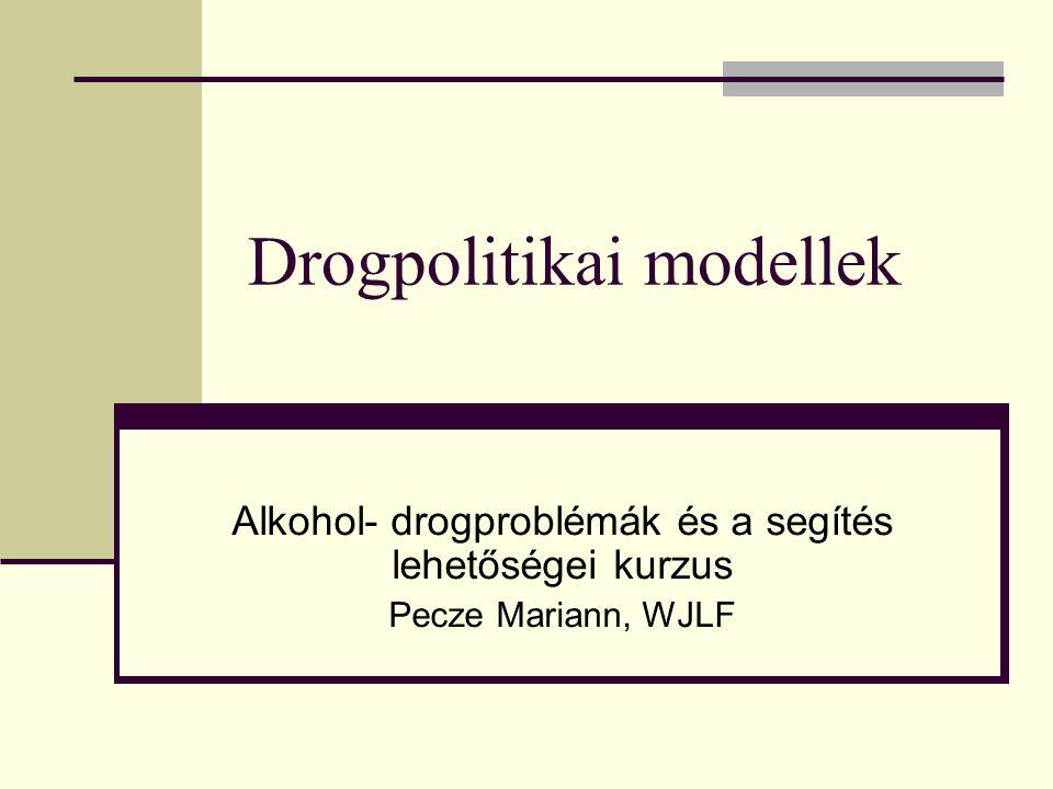 Drogpolitikai modellek