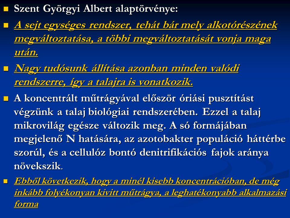 Szent Györgyi Albert alaptörvénye: