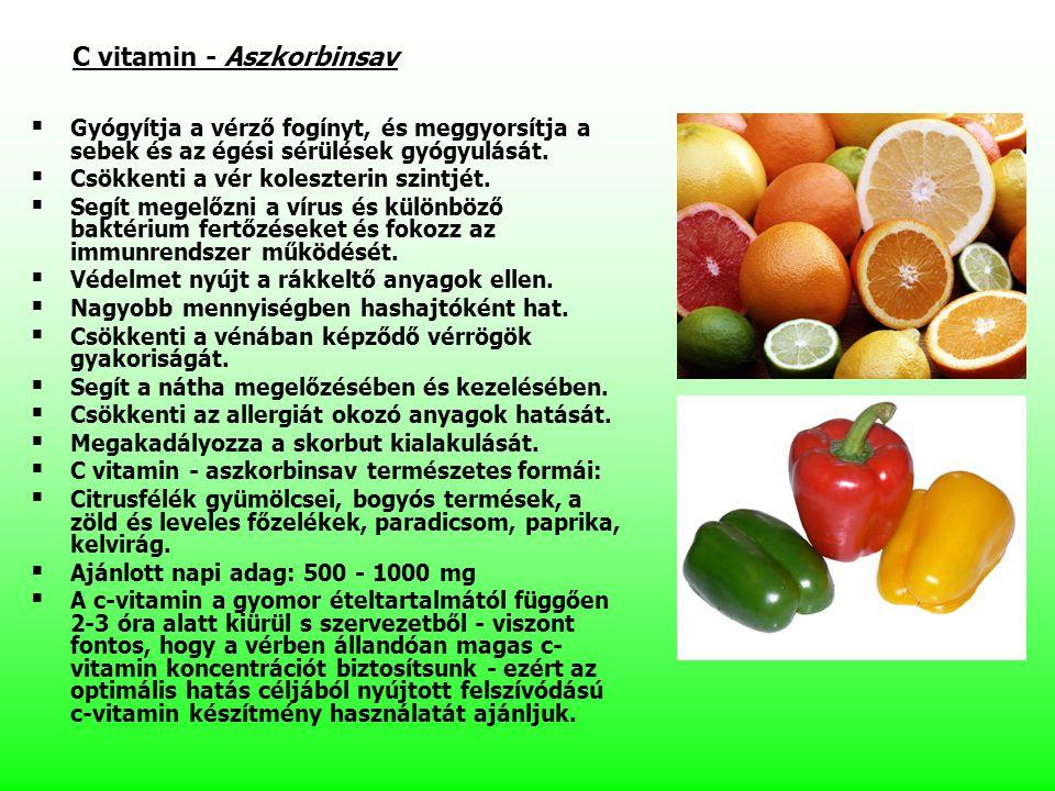 C vitamin - Aszkorbinsav