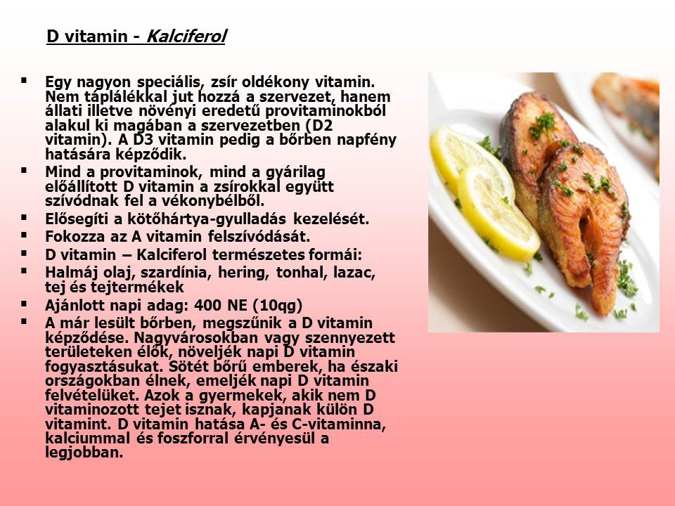 D vitamin - Kalciferol