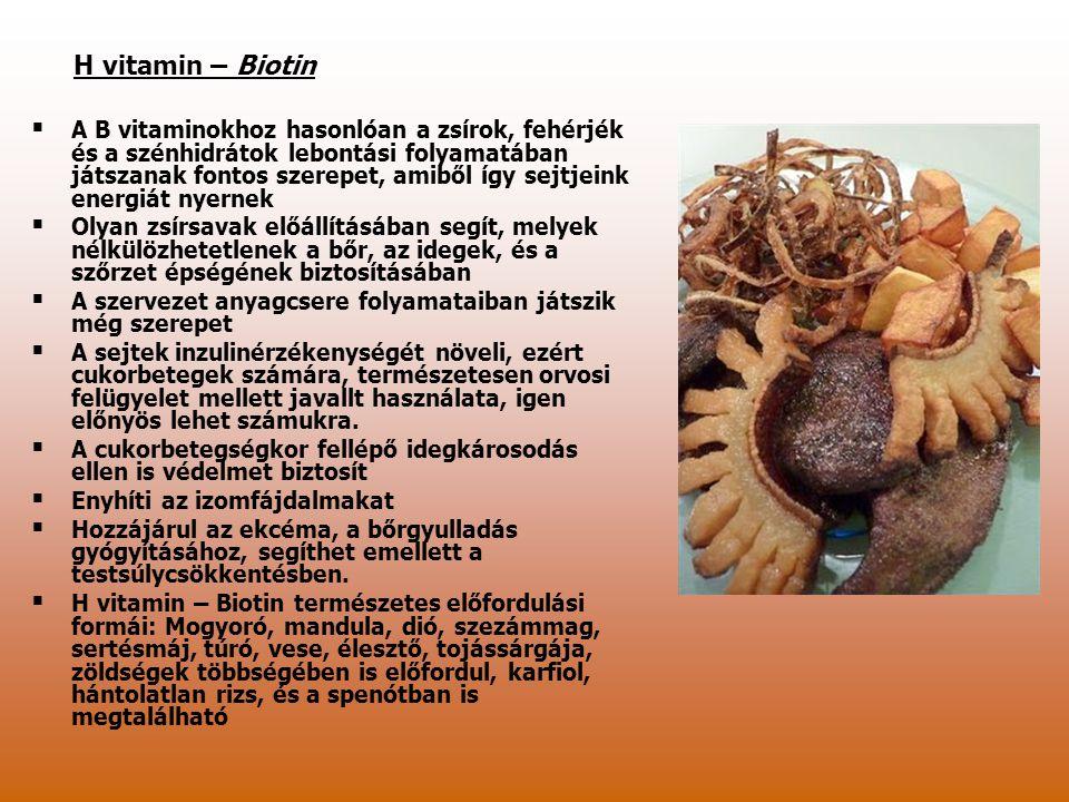 H vitamin – Biotin