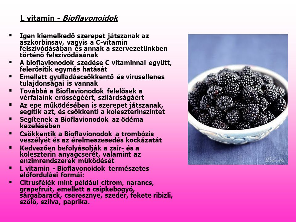 L vitamin - Bioflavonoidok